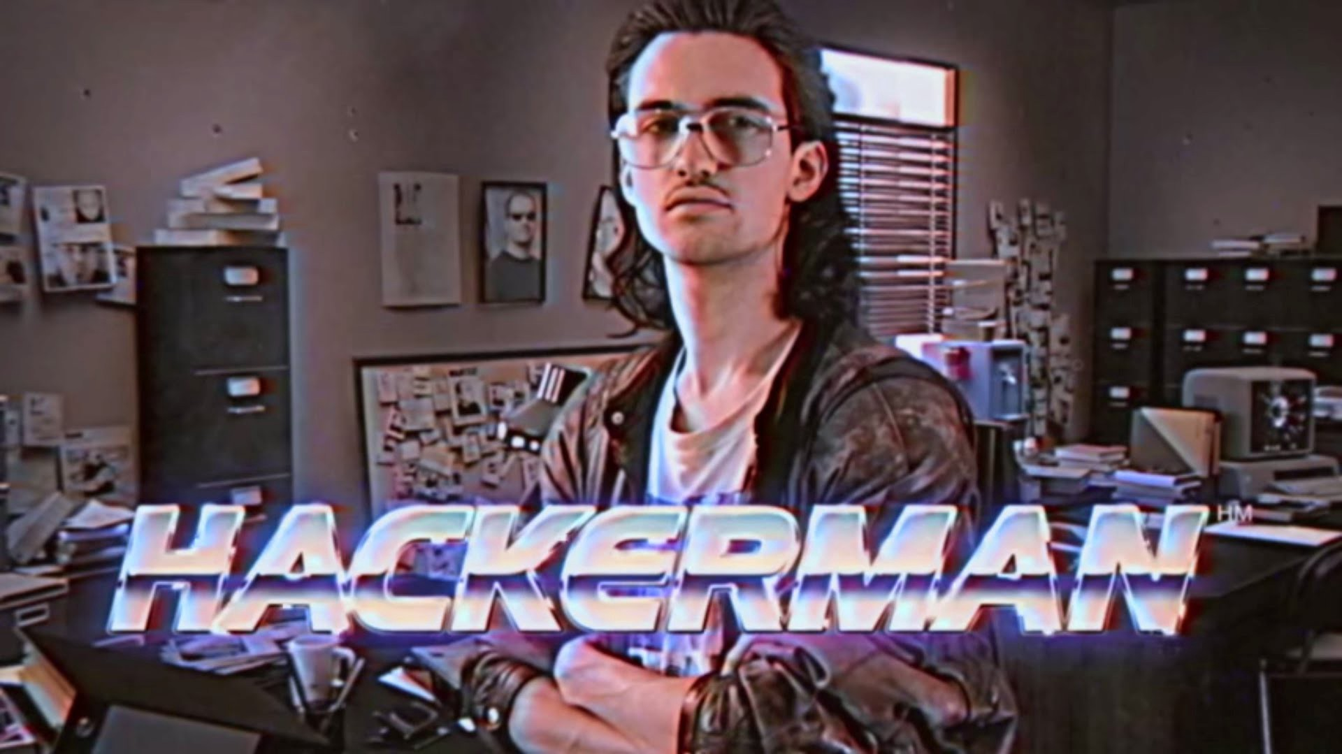 "Title card for ""Hackerman"", a character from the short film ""Kung Fury"". http://www.kungfury.com"