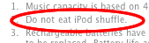 [2] Do not eat iPod shuffle.